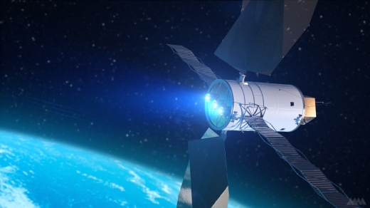 Artist's Concept of a SEP (Solar Electric Propulsion System)